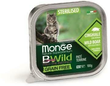 Monge Cat BWild GF конс д/кошек кабан 100 г