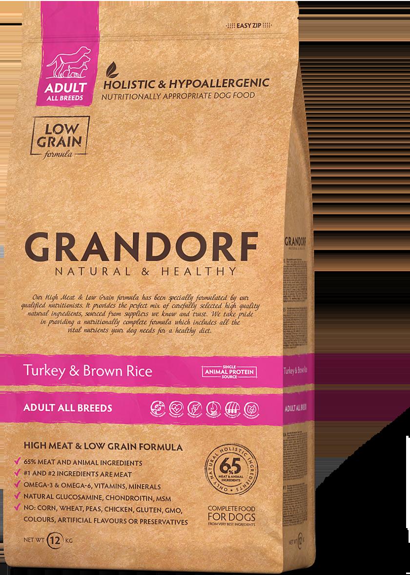 Grandorf Dog Medium д/собак индейка рис 3 кг