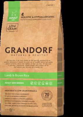 Grandorf Dog Mini д/собак мелких ягненок рис 3 кг