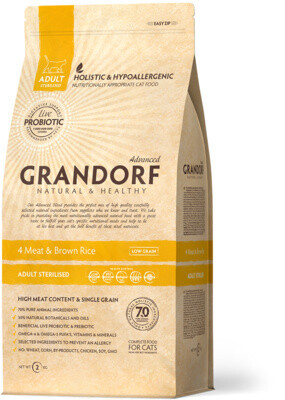 Grandorf Cat Sterilized Probiotic д/кошек стерилизованных 2 кг