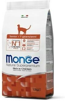 Monge Cat Senior д/пожилых кошек курица 1,5 кг