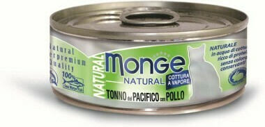 Monge Cat Natural конс д/кошек тунец курица 80 г