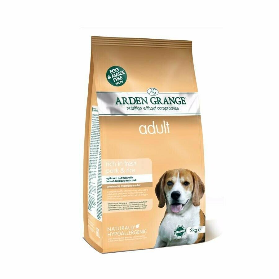 AG Dog Adult д/собак свинина рис 2 кг