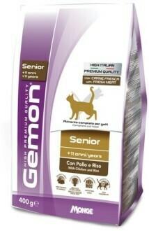 Gemon Cat Senior д/кошек пожилых 400 г
