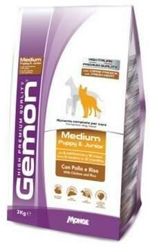 Gemon Dog Medium д/щенков средних курица 3 кг