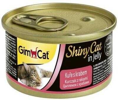 GimCat ShinyCat конс д/кошек из курицы с крабом 70 г