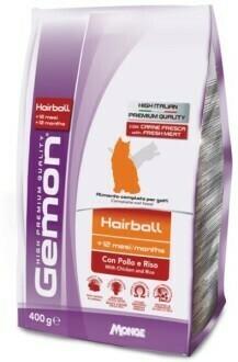 Gemon Cat Hairball д/кошек выведение шерсти 400 г