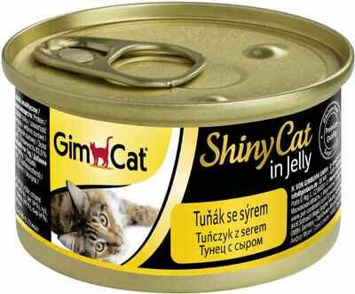 GimCat ShinyCat конс д/кошек из тунца с сыром 70 г