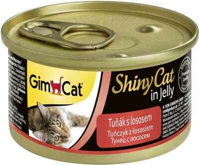 GimCat ShinyCat конс д/кошек из тунца с лососем 70 г