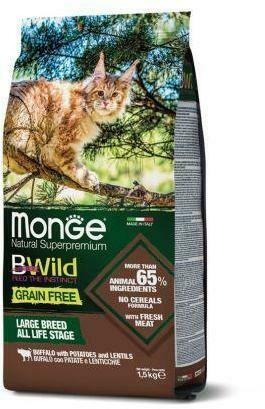 Monge Cat BWild GF беззерновой д/кошек буйвол 1,5 кг