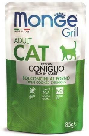 Monge Cat Grill пауч д/кошек итальянский кролик 85 г