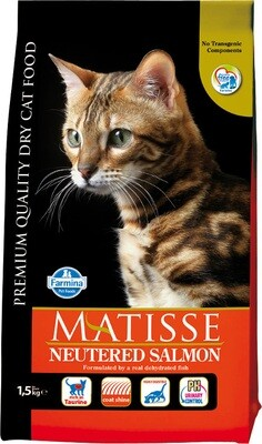 Matisse Cat Neutered д/стерил кошек лосось 1,5 кг