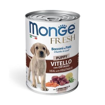 Monge Dog Fresh Chunks конс д/щенков телятина овощи 400 г