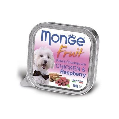 Monge Dog Fruit конс д/собак Курица с малиной 100 г