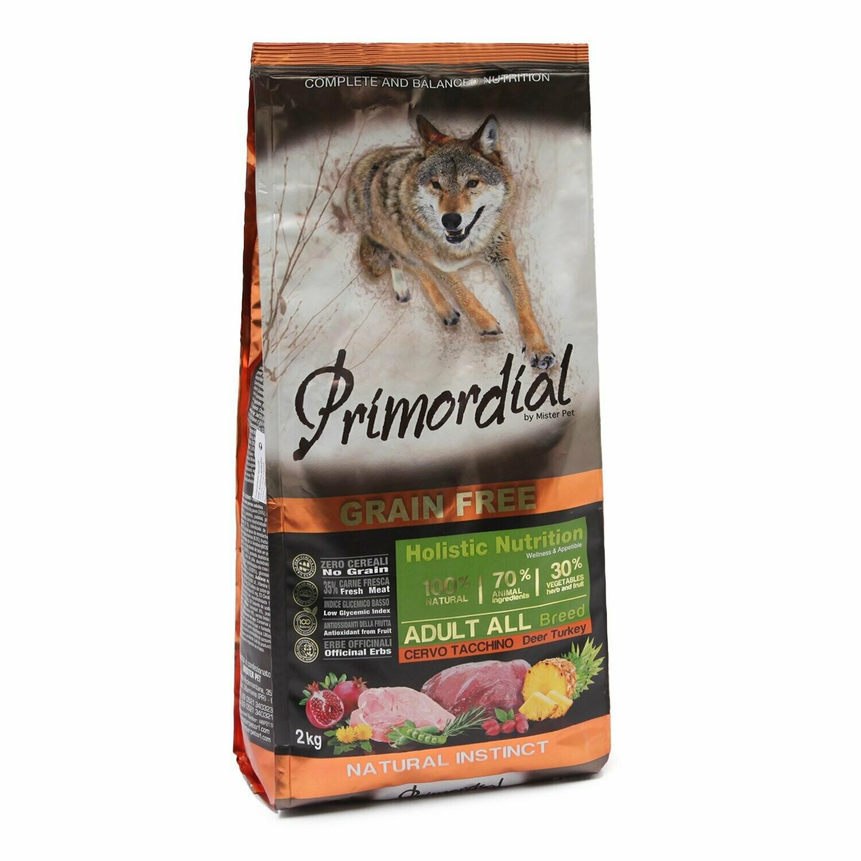 Primordial корм д/собак оленина/индейка 2 кг