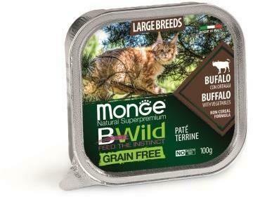 Monge Cat BWild GF конс д/кошек буйвол 100 г