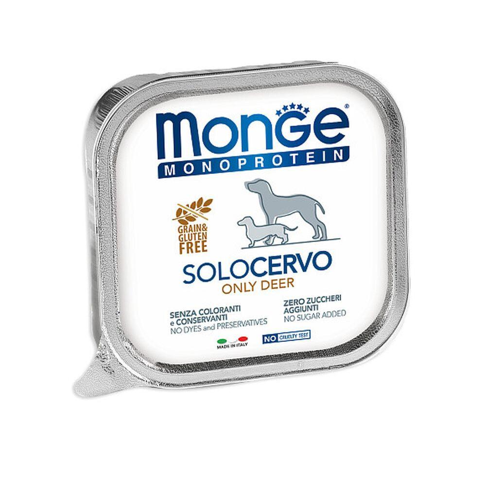 Monge Dog Monoprotein Solo конс д/собак Оленина паштет 150 г