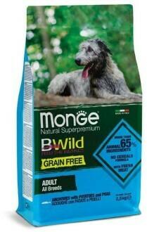Monge Dog BWild GF беззерновой д/собак анчоус 12 кг
