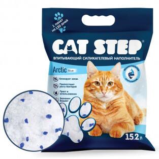 Наполнитель Cat Step Arctic Blue силикагель 15,2 л