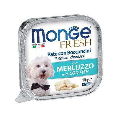 Monge Dog Fresh конс д/собак Треска 100 г