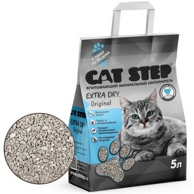 Наполнитель Cat Step Extra Dry Original впитывающий 5 л