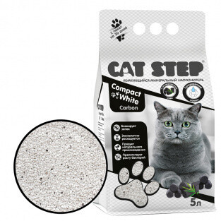 Наполнитель Cat Step Compact White Carbon комкующийся 5 л