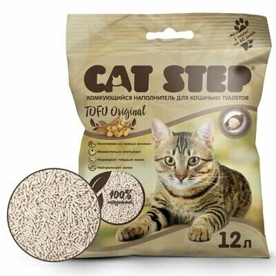 Наполнитель Cat Step Tofu Original комкующийся 12 л