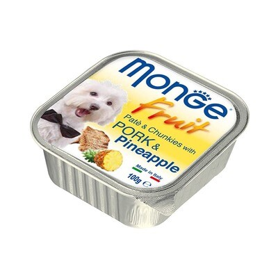 Monge Dog Fruit конс д/собак Свинина с ананасом 100 г