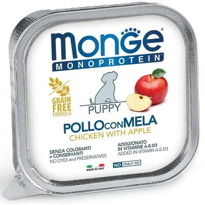 Monge Dog Monoprotein Fruits конс д/щенков Курица яблоки 150 г