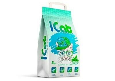 Наполнитель iCAT Комкующийся зеленый сад 5 кг