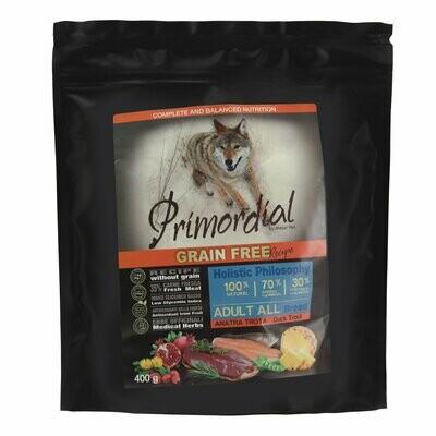 Primordial корм д/собак форель/утка 400 г
