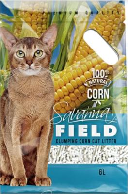 Наполнитель Savanna Field Corn кукуруза комкующийся 6 л *6 шт