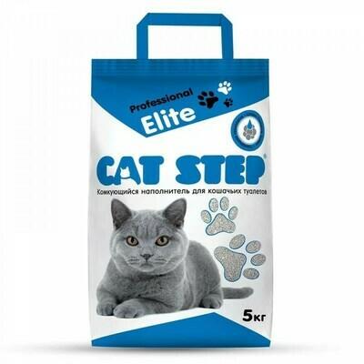 Наполнитель Cat Step Professional Elite комкующийся 5 кг