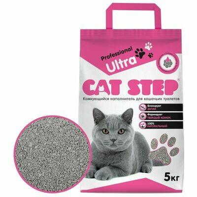 Наполнитель Cat Step Professional Ultra комкующийся 5 кг
