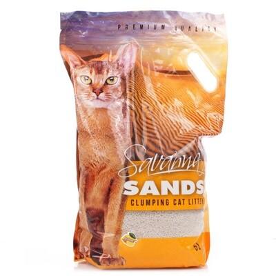 Наполнитель Savanna Sands лимон комкующийся 3,8 кг *6 шт