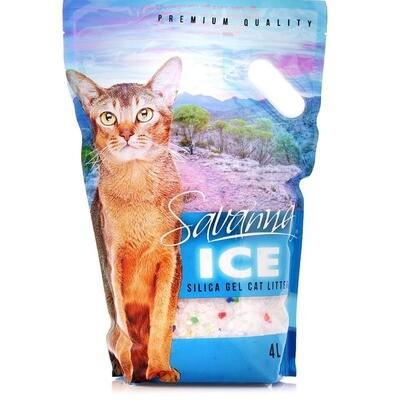 Наполнитель Savanna Ice силикагель цветной впитывающий 1,8 кг