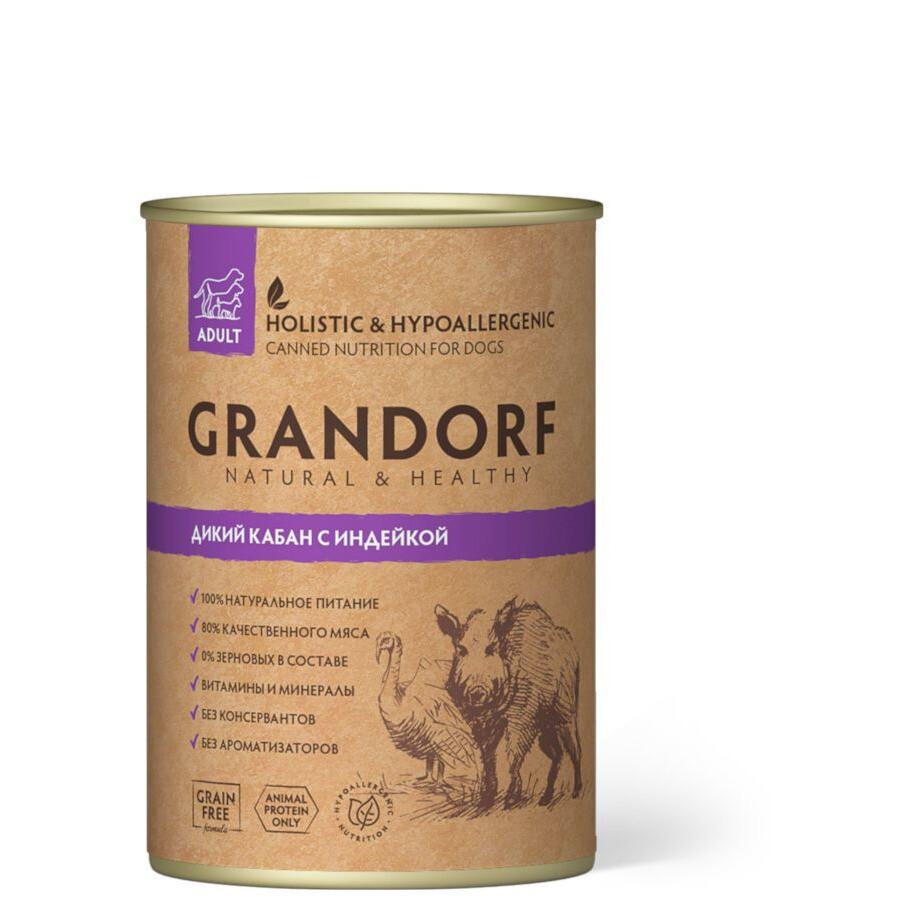 Grandorf Dog конс д/собак кабан индейка 400 г