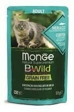 Monge Cat BWild GF пауч д/кошек треска 85 г