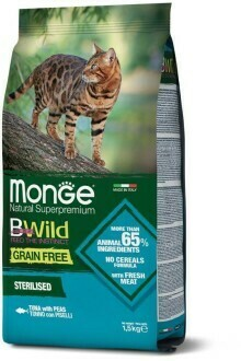 Monge Cat BWild GF беззерновой д/стерил кошек тунец 1,5 кг