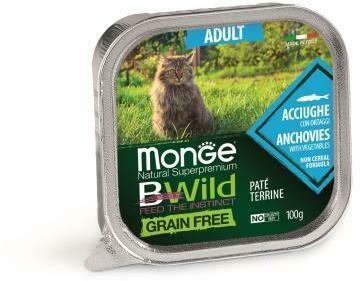 Monge Cat BWild GF конс д/кошек анчоус 100 г