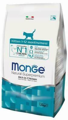 Monge Cat Kitten д/котят курица 1,5 кг