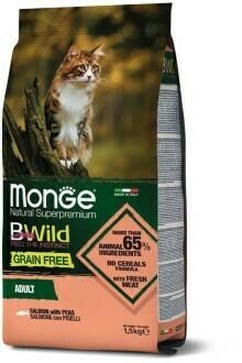 Monge Cat BWild GF беззерновой д/кошек лосось 1,5 кг