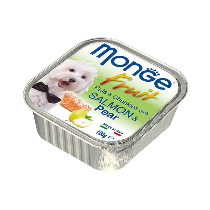 Monge Dog Fruit конс д/собак Лосось с грушей 100 г