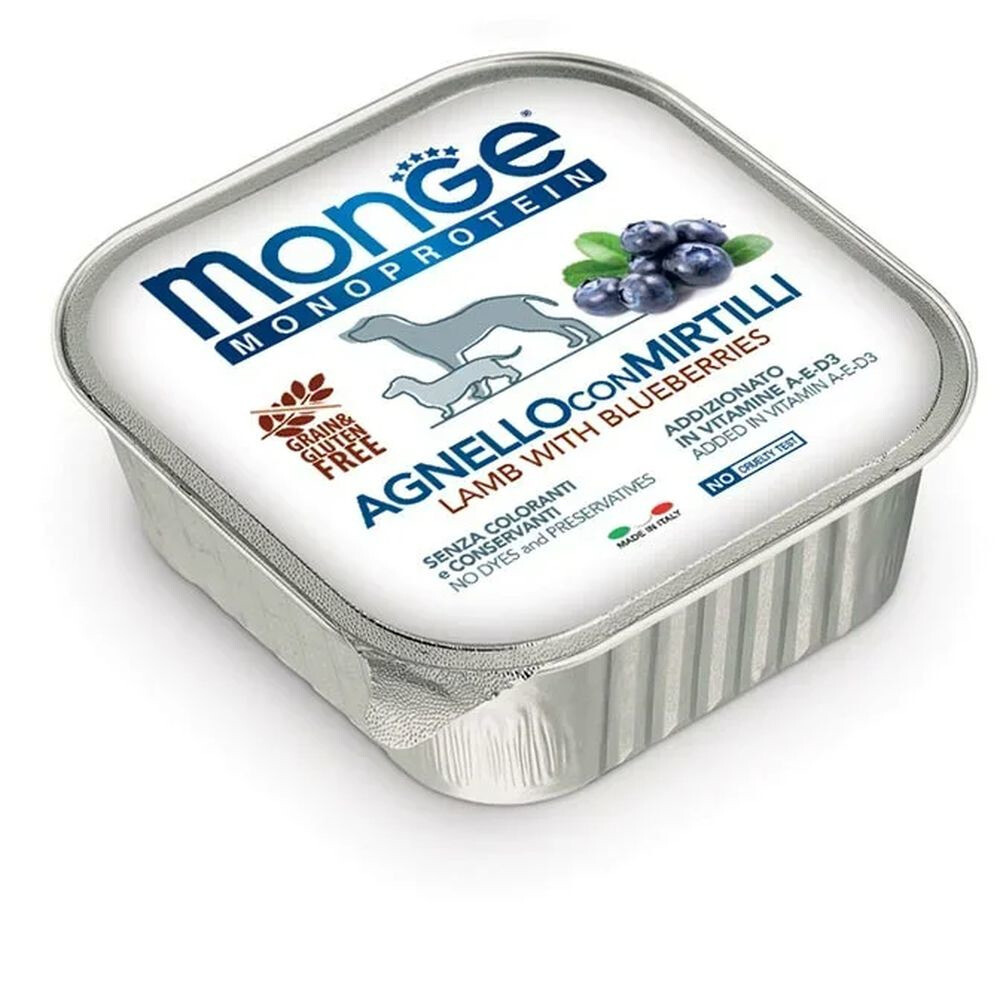 Monge Dog Monoprotein Fruits конс д/собак Ягненок черника 150 г