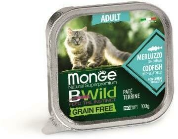 Monge Cat BWild GF конс д/кошек треска 100 г
