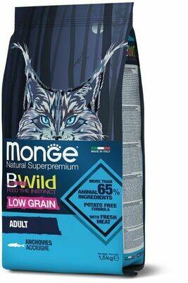 Monge Cat BWild LG малозерновой д/кошек анчоус 1,5 кг