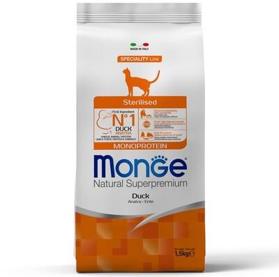 Monge Cat Speciality Sterilized д/стерил кошек утка 1,5 кг