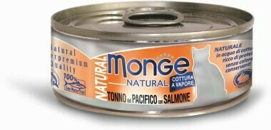 Monge Cat Natural конс д/кошек тунец лосось 80 г