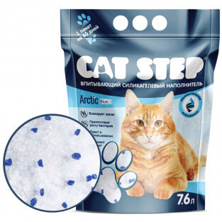 Наполнитель Cat Step Arctic Blue силикагель 7,6 л
