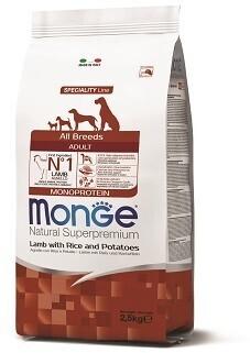 Monge Dog Speciality д/собак ягненок 2,5 кг